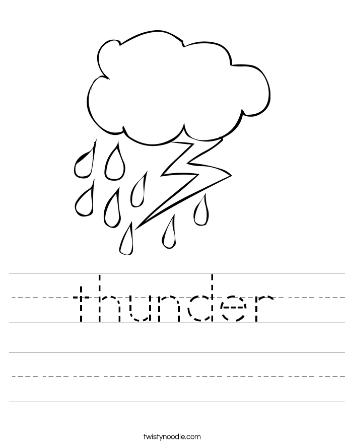 thunder Worksheet