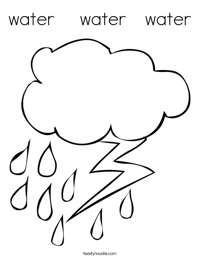 water    water   water Coloring Page