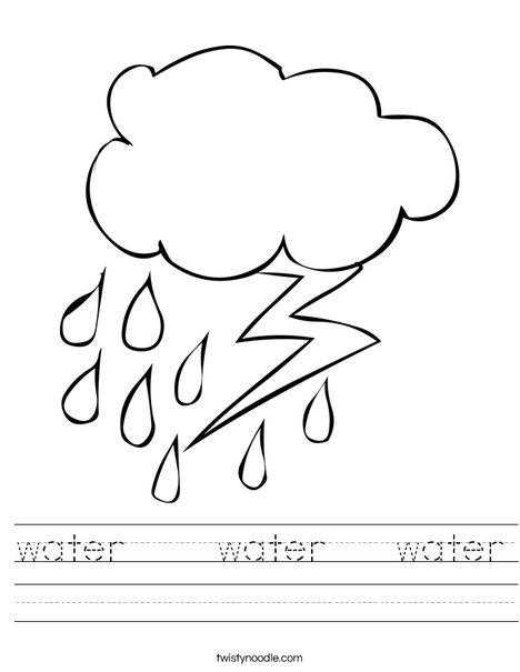 water water water Worksheet - Twisty Noodle
