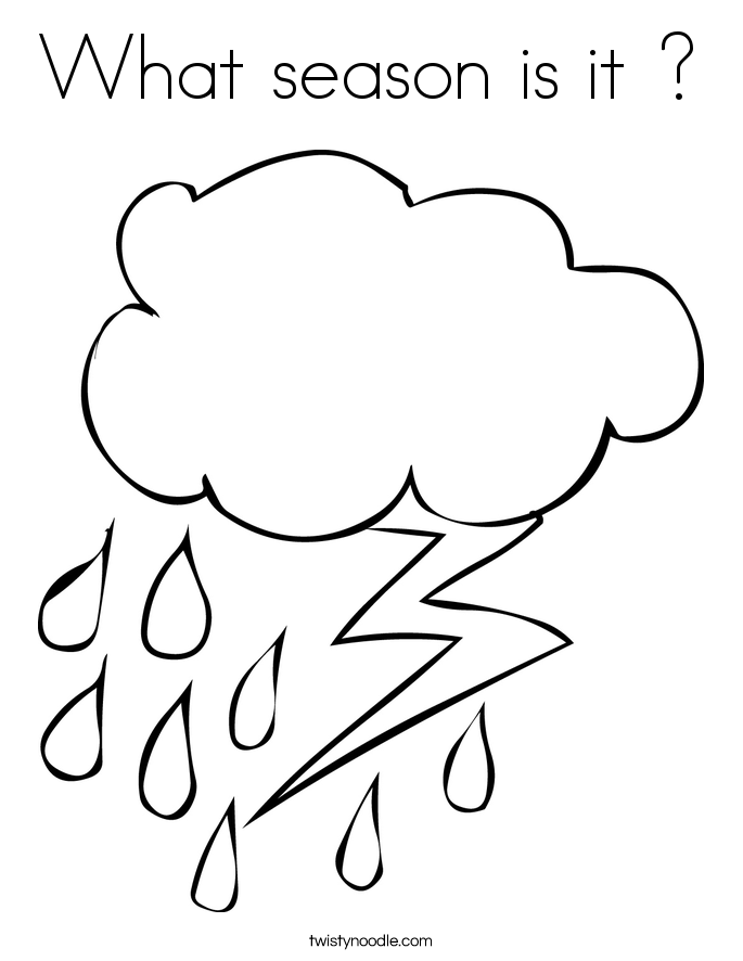 What season is it ? Coloring Page