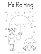 It's Raining Coloring Page
