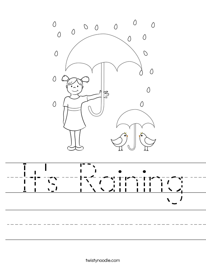 It's Raining Worksheet