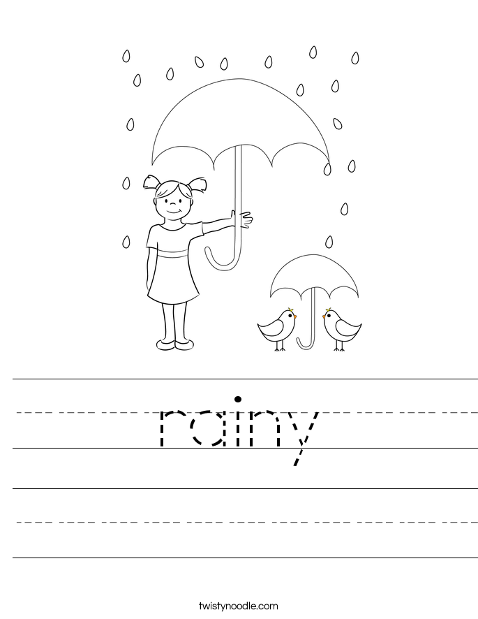 rainy Worksheet