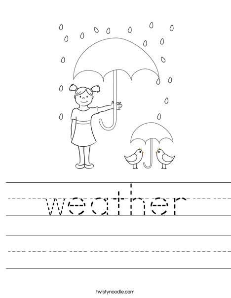Peacock in the Rain Worksheet