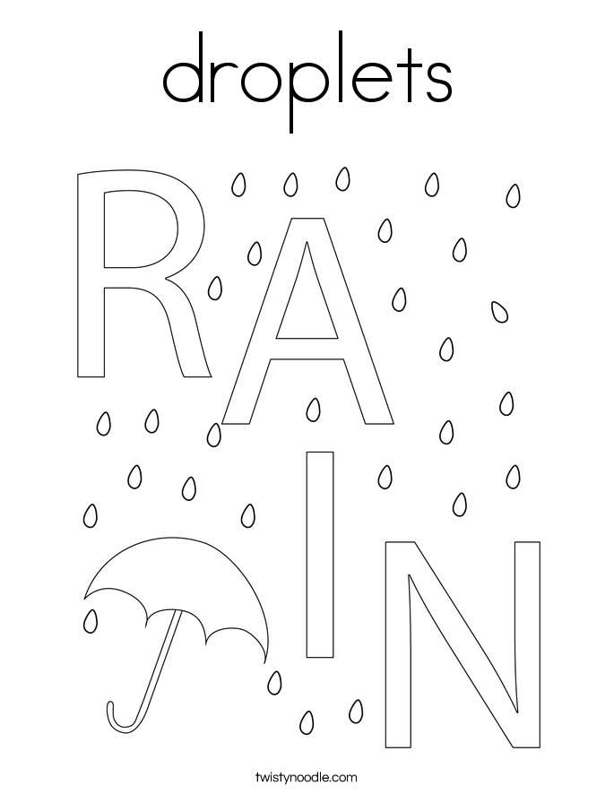 droplets Coloring Page