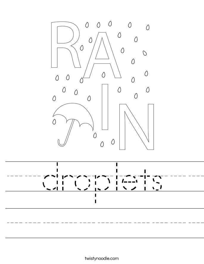 droplets Worksheet