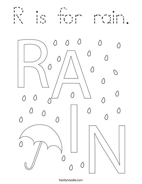 Rain Coloring Page