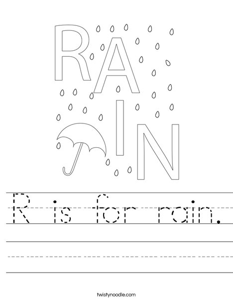Rain Worksheet