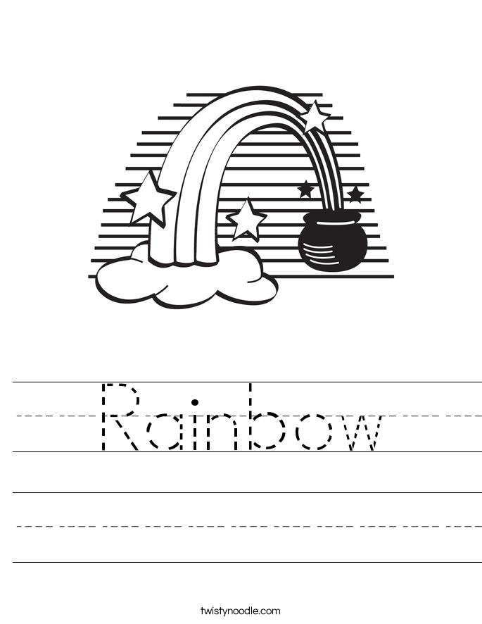 Rainbow Worksheets - Twisty Noodle
