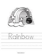 Rainbow Handwriting Sheet