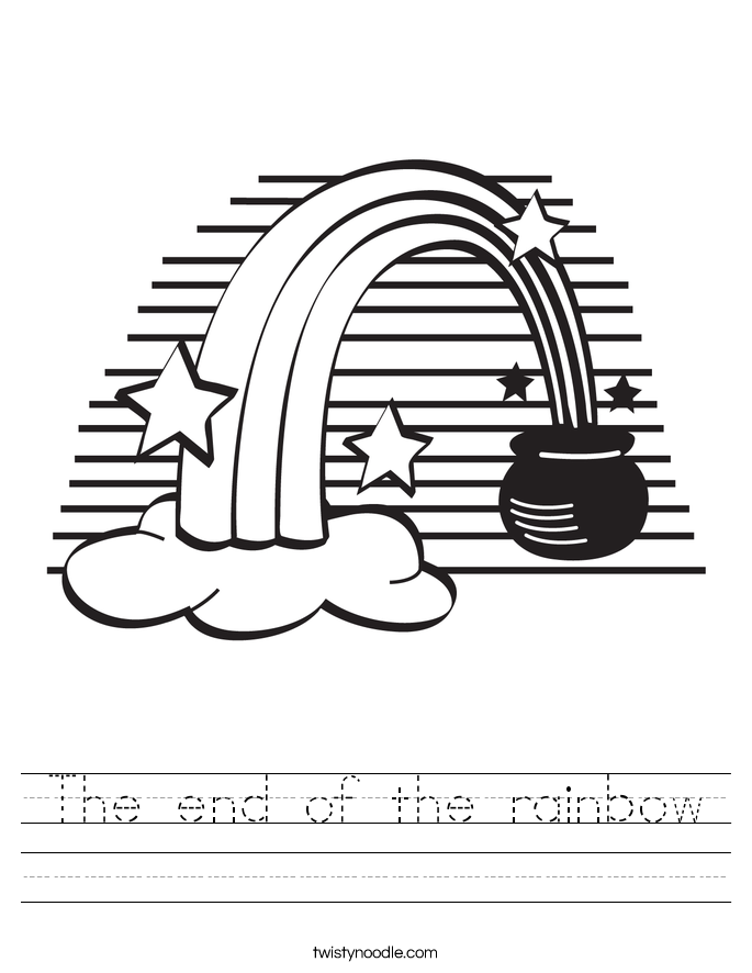 The end of the rainbow Worksheet