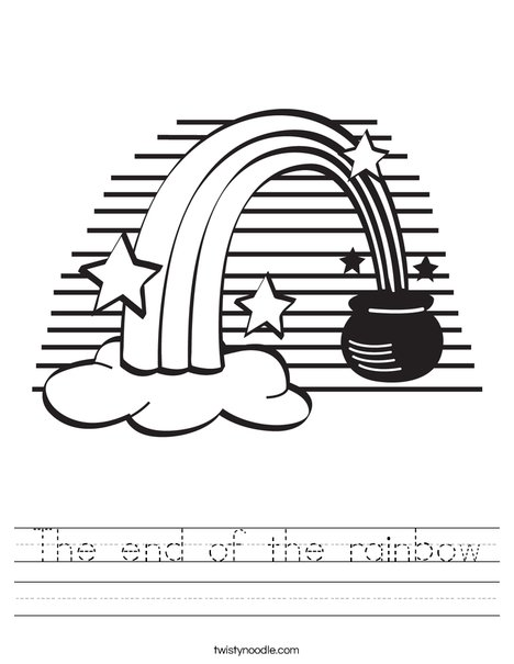 Rainbow and a Pot of Gold Worksheet