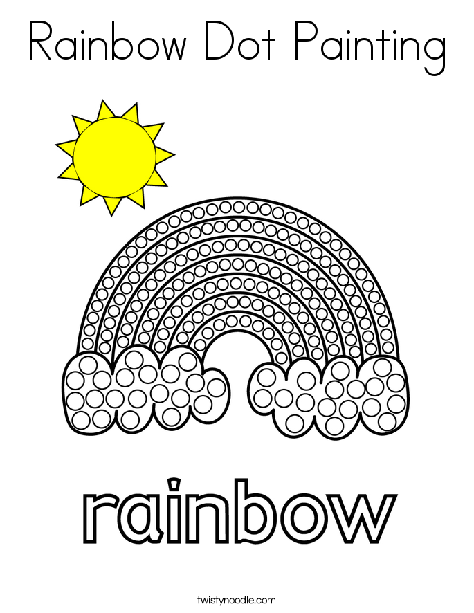 Rainbow Dot Painting Coloring Page