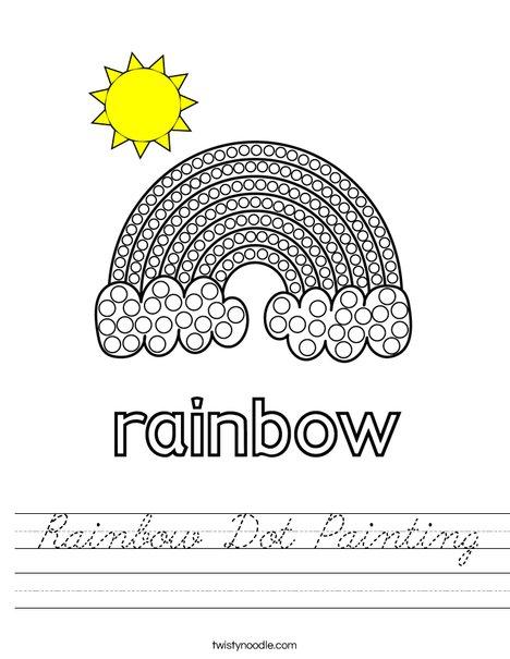 Rainbow Dot Painting Worksheet