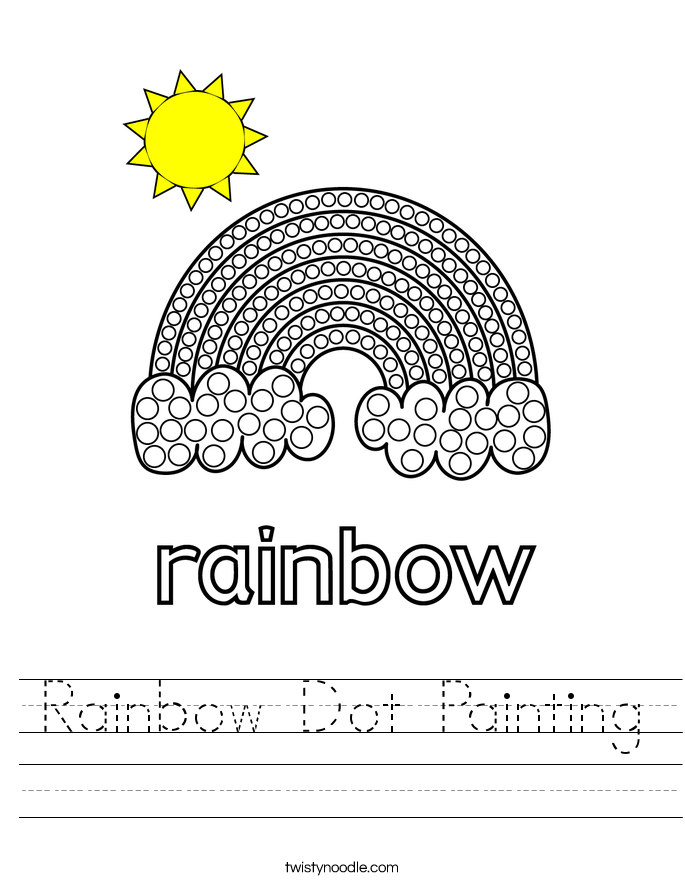 Rainbow Dot Painting Worksheet