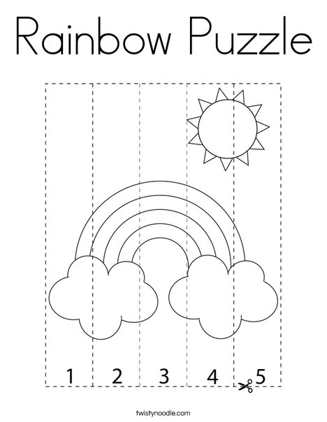 Rainbow Puzzle Coloring Page