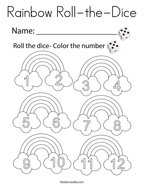 Rainbow Roll-the-Dice Coloring Page