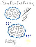Rainy Day Dot Painting Coloring Page