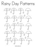 Rainy Day Patterns Coloring Page