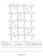 Rainy Day Patterns Handwriting Sheet