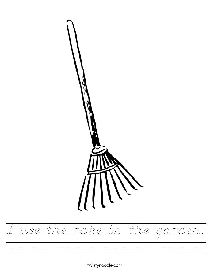 I use the rake in the garden. Worksheet