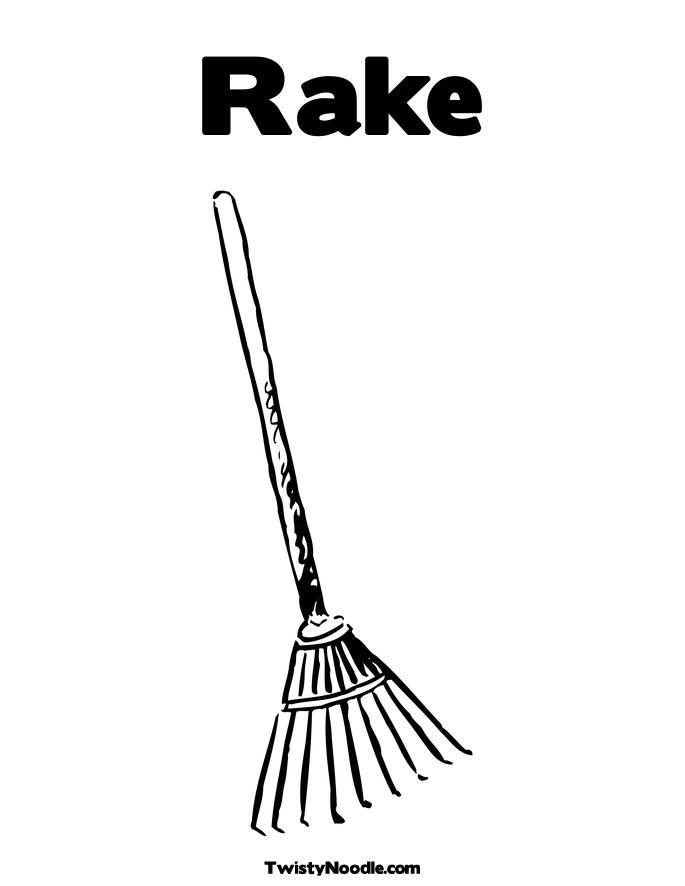 rakes coloring pages - photo#2