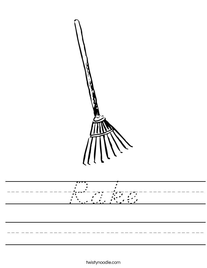 Rake Worksheet