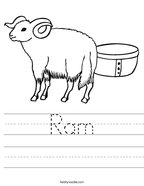 Ram Handwriting Sheet
