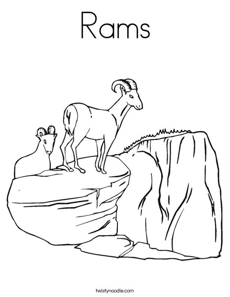 Rams Coloring Page