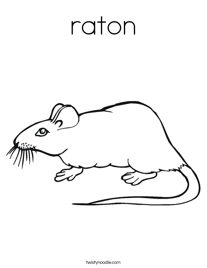 raton Coloring Page