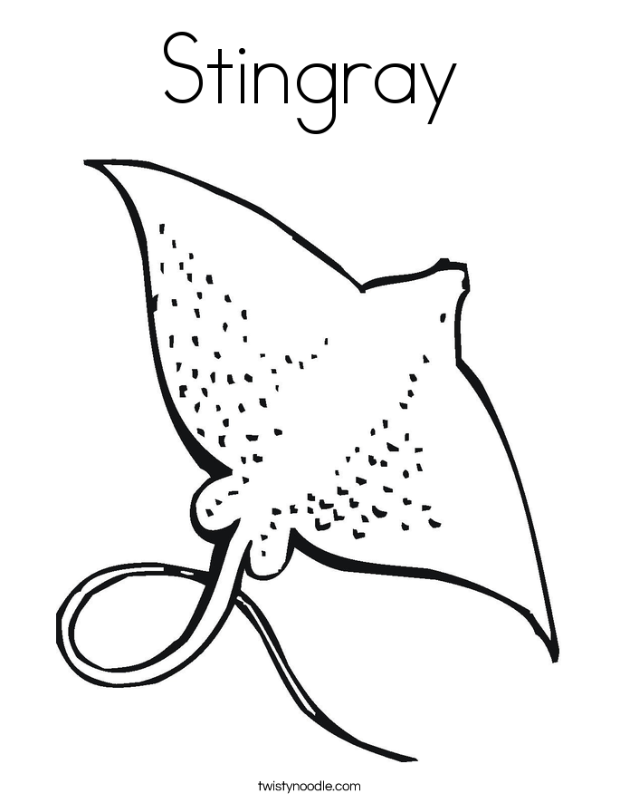 stingray coloring page - Stingray Coloring Pages Printable