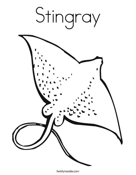 ray coloring page - Stingray Coloring Pages Printable
