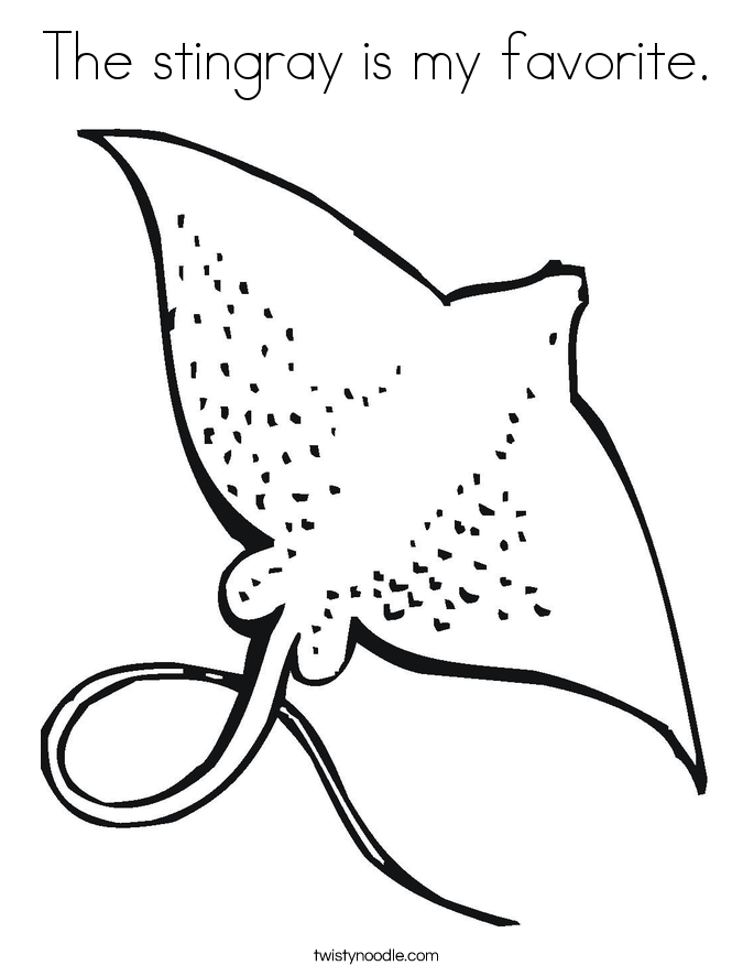 The stingray is my favorite. Coloring Page