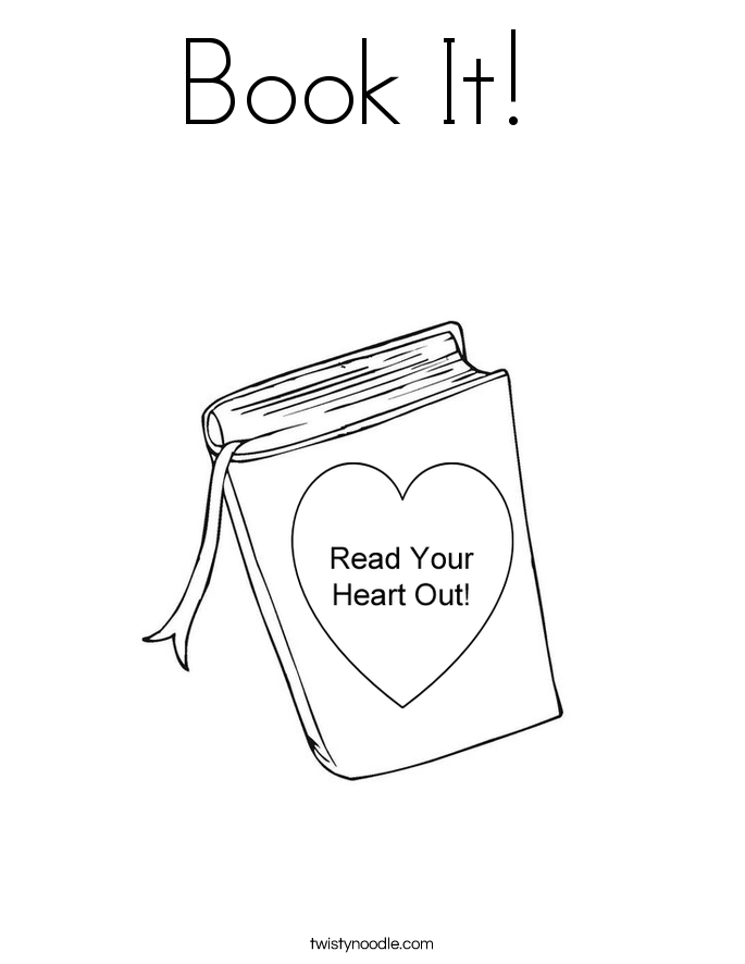 Book It!  Coloring Page