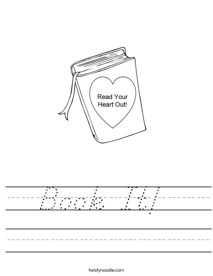Book It!  Worksheet