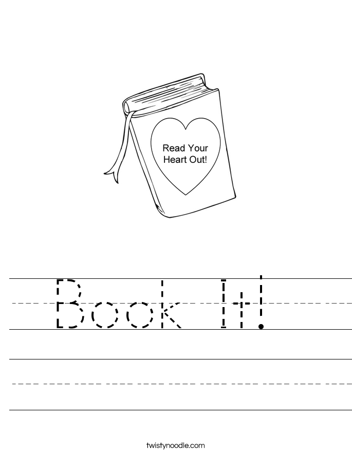 Book It!  Worksheet