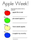 Apple Week! Coloring Page
