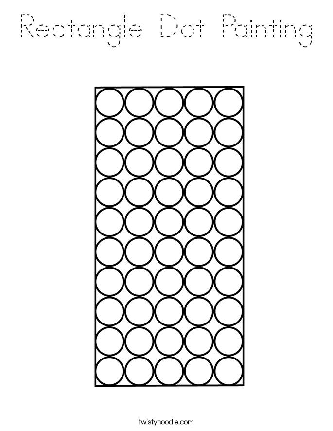 Rectangle Dot Painting Coloring Page