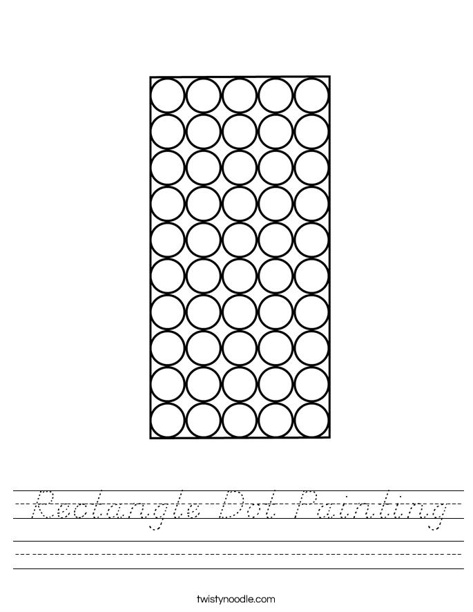 Rectangle Dot Painting Worksheet