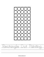 Rectangle Dot Painting Handwriting Sheet