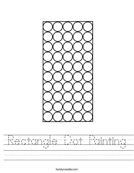 Rectangle Dot Painting Worksheet
