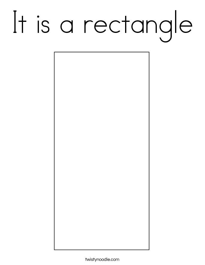It is a rectangle Coloring Page