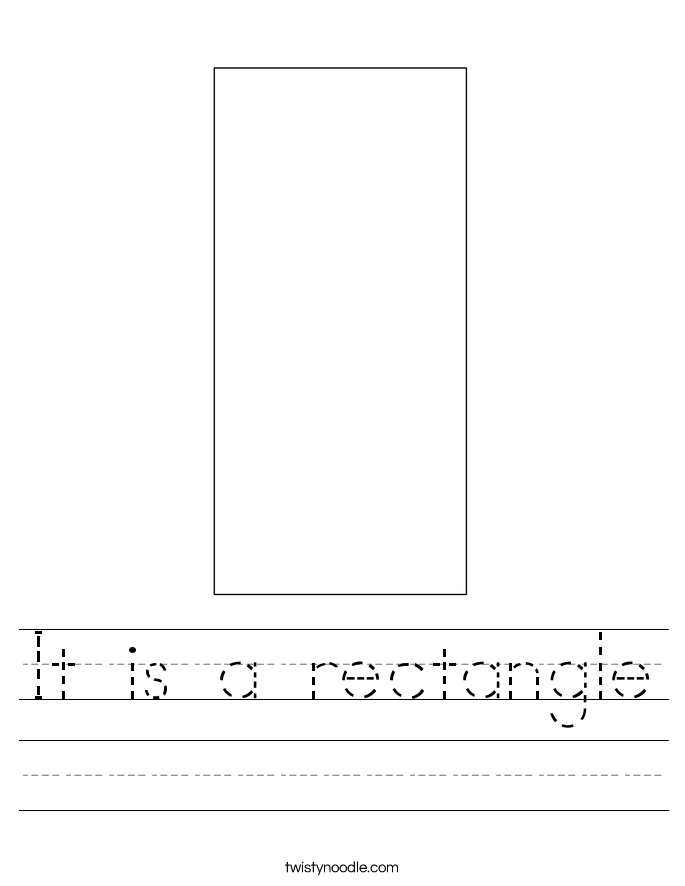It is a rectangle Worksheet - Twisty Noodle