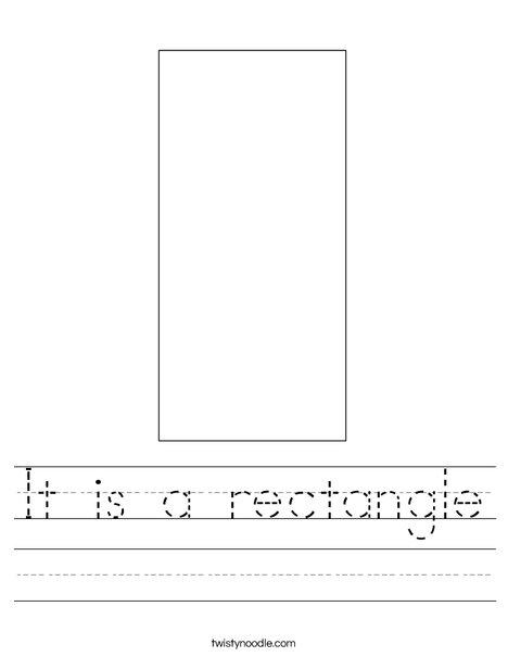 Rectangle Worksheet