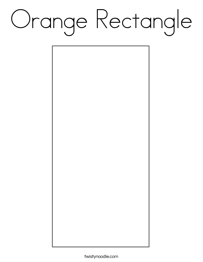 Orange Rectangle Coloring Page