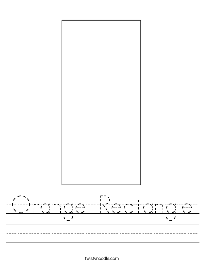 Orange Rectangle Worksheet