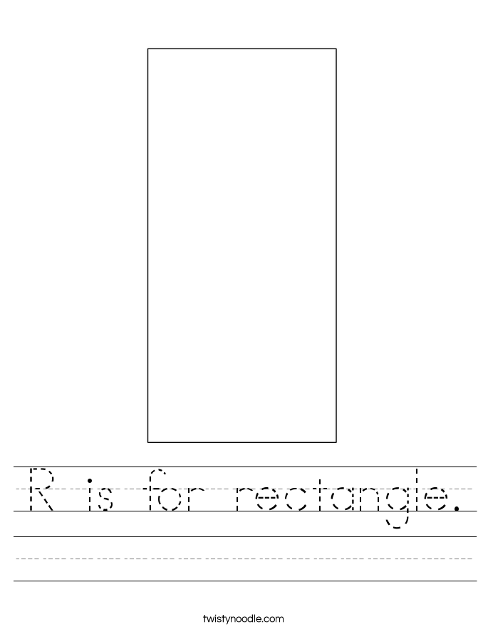 R is for rectangle. Worksheet