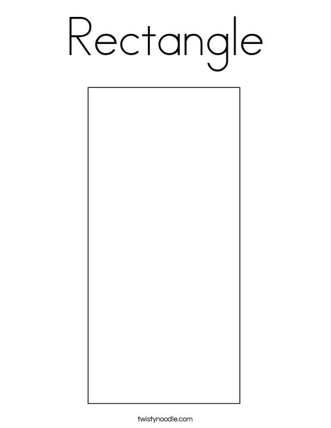 graphic regarding Printable Rectangle titled Rectangle Coloring Site - Twisty Noodle