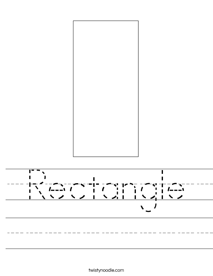 Rectangle Worksheet Twisty Noodle