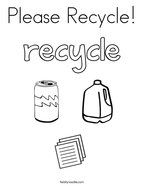 Please Recycle Coloring Page
